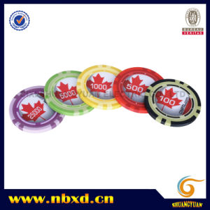 13.5g Clay Eight Stripe Poker Chip with Customize Sticker (SY-E25b) pictures & photos