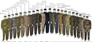German Jungle Camouflage Military Uniform Hunting Suit Tactical Wargame Uniform pictures & photos