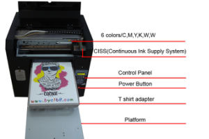 6 Colors A3 T Shirt Food Printer Printing Machine pictures & photos