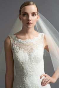 New Style 2018 Ivory Lace Applique Mermaid Wedding Dress M2017102 pictures & photos