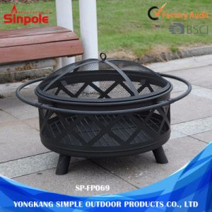 Steel Round Lowes Outdoor Ceramic Fire Pits with Lid pictures & photos
