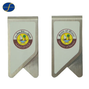 Cheap Stainless Steel Custom Logo Metal Paper Clip (FTPC1003H) pictures & photos