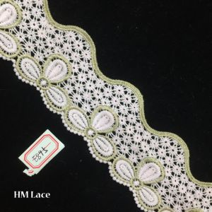 6.5cm Narrow Venise Lace Trim for Costumes, Gowns, Home Decor, Crafts, Cakes, Light Green Garland Pattern Hme895 pictures & photos