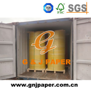 Wood Pulp 50GSM 55GSM Jumbo Rolls Coated Carbonless Paper pictures & photos
