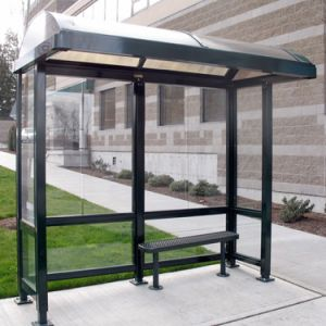 Outdoor Bus Shelter, Advertising Bus Stop with LED Screen pictures & photos