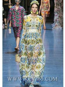 European Fashion Women Clothing Long Sleeve Elegant Party Prom Dress pictures & photos