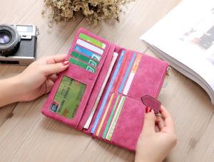 Hot Sale Korean Retro Wallet Two Long Purse Ladies Wallet pictures & photos