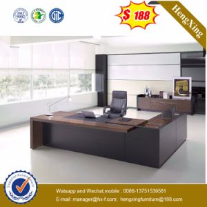 Modern Painting Furniture MDF Glossy Wood Veneer Office Desk (NS-SL004) pictures & photos