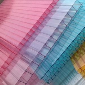 Colored or Transparent Twinwall Hollow Polycarbonate Sheet for Greenhouse pictures & photos