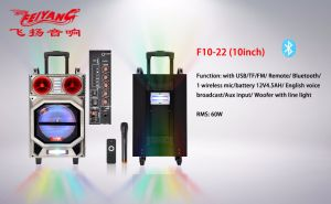 Feiyag/Temeisheng Pdisco Light Speaker, Active Speaker, 10 Inch Speaker with High Quality and Disco Music F10-22 pictures & photos