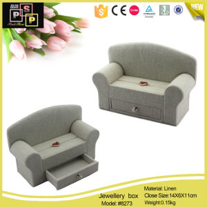 New Design Sofa Shape Leather Jewelry Box Jewelry Display Box (8272) pictures & photos