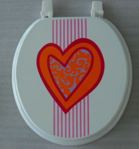 Printed MDF Toilet Seat pictures & photos