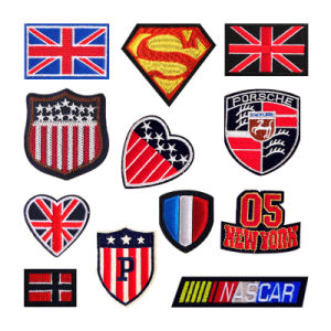 Lovely Clothing Patches Flag Statue Embroidery Sleeve Badge Latest Design Embroidered Patches pictures & photos