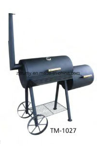 BBQ Charcoal Grill with Wheels pictures & photos