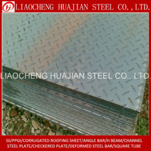 Stock Hr Checkered Plate of Q235B Material pictures & photos