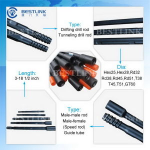 Top Quality Steel R32/T38/T45/T51 Drill Tube From Bestlink pictures & photos