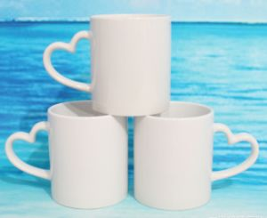 11oz Heart Handle Sublimation Mug pictures & photos