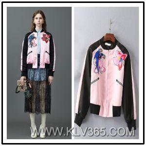 Latest Jacket Design Women Lady Spring Autumn Fashion Embroidery Short Baseball Jacket