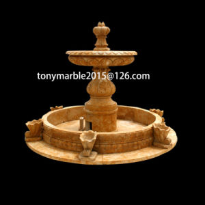 Yellow Stone Sculpture Marle Fountain (SY-F009) pictures & photos