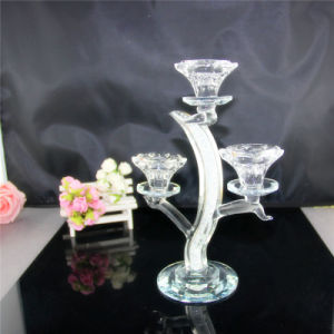 Special Crystal Candelabra with 3 Arms for Centerpiecess