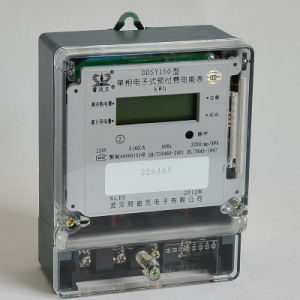 Single Phase Electronic Prepayment Energy Meter with IC/RF Cards pictures & photos