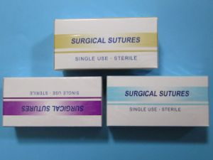 Plain/Chromic Catgut Suture Needle Product with CE & ISO pictures & photos