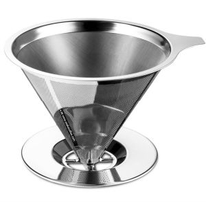 Coffee Filters / Stainless Steel Coffee Dripper / Cone Filter pictures & photos