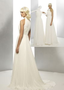 Fashion a-Line Chiffon Wedding Bridal Gown Dress
