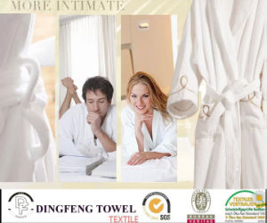 Professional Sleep Expert 100% Cotton Solid Color Bathrobe Df-8878 pictures & photos
