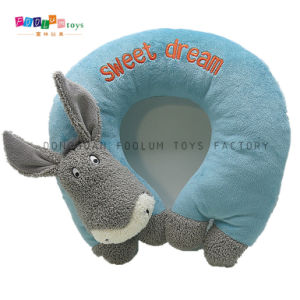 Plush U-Shape Donkey Animal Travel Pillow