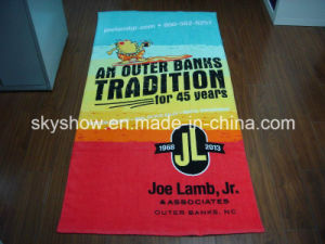 100% Cotton Velour Reactive Printed Beach Bath Towel pictures & photos