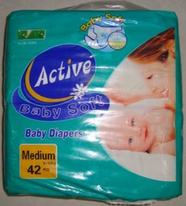 Active Disposable Soft Baby Diaper with Magic Tape/ Elastic Waist pictures & photos