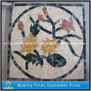 Natural Stone Marble Mosaic Flower Pattern/ Mosaic pictures & photos