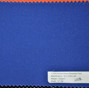 320G/M2 Yarn: 10sx10s Flame Retardant Cotton Garment Uniform Fabric pictures & photos