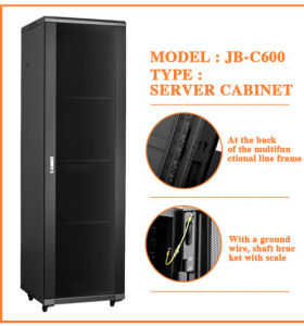 Metal Stainless Server Cabinet 19u Standing Rack Cabinet pictures & photos