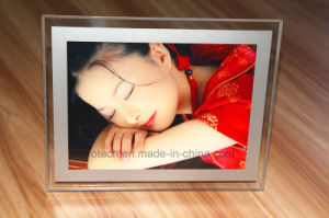 Table-Top LED Acrylic Photos Pictures Frame with Magnetic Open pictures & photos