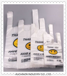 Printing LDPE/HDPE High Quality T-Shirt Bag/Singlet Bags pictures & photos
