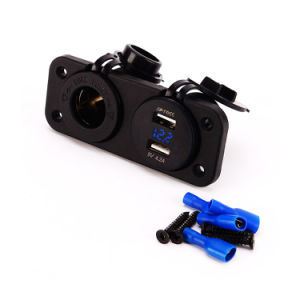 Dual USB Power Adapter Charger Outlet with 60cm or 150cm Wire pictures & photos