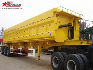 3axles 50cbm Heavy Duty Semi Dump Trailers for Sale pictures & photos