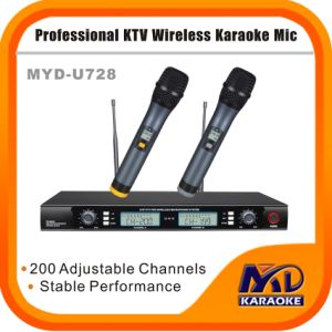Professional High Quality Infrared Frequency Dual Channels Wireless Microphone