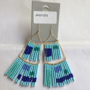 Long Beads Earrings with Metal Tassel Fashion Jewelry Summer pictures & photos