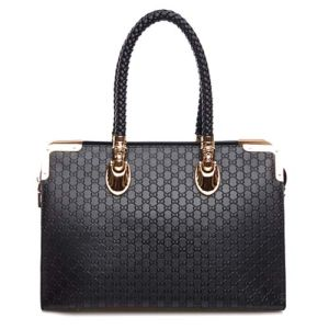 Genuine Leather Handbag Embossed Style Shopping Handbag for Bag (XZ157) pictures & photos