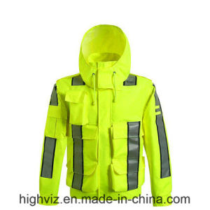 High Vis Safety Rain Jacket with ANSI107 (C2445) pictures & photos