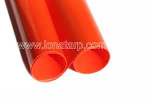 Bright Orange PVC Tarpualins Coated 500d 18X17