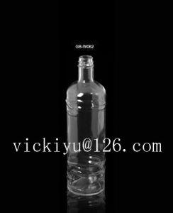750ml Glass Vodka Bottle Liquor Glass Bottle with Metal Cap