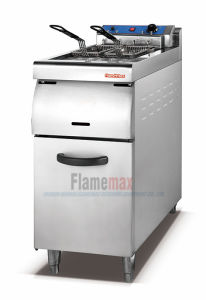 1-Tank 2-Basket Electric Fryer with Cabinet (HEF-70A) pictures & photos