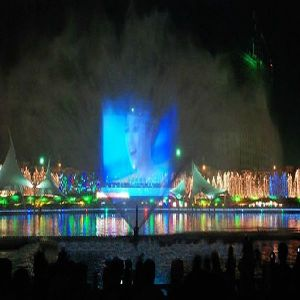Laser Water Curtain Music Fountain Professional Fountain Engineering