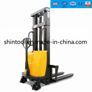 Small Semi-Electric Pallet Stacker Bda10 pictures & photos
