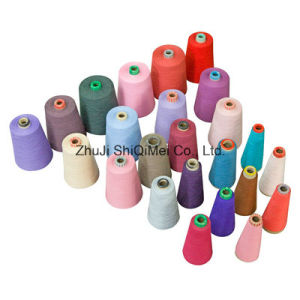 Factory Supply Close Virgn 21s 30s 100% Polyester Ring Spun Yarn pictures & photos