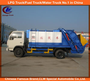 4X2 4cbm Dongfeng Waste Container Truck Garbage Compactor Truck pictures & photos